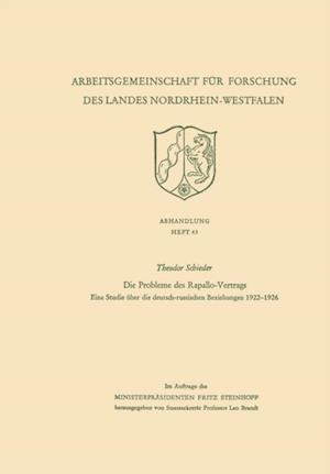 Die Probleme des Rapallo-Vertrags af Theodor Schieder