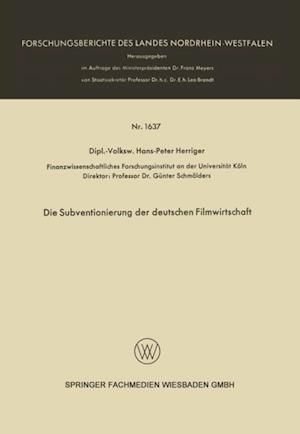 Die Subventionierung der deutschen Filmwirtschaft