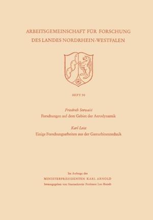 Forschungen auf dem Gebiet der Aerodynamik. Einige Forschungsarbeiten aus der Gasturbinentechnik af Karl Seewald
