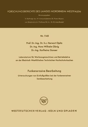 Funkenerosive Bearbeitung af Herwart Opitz