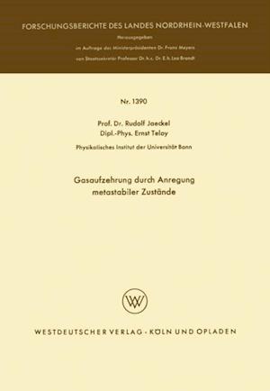 Gasaufzehrung durch Anregung metastabiler Zustande af Rudolf Jaeckel