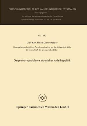 Gegenwartsprobleme staatlicher Anleihepolitik af Heinz Dieter Hessler