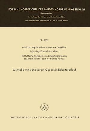 Getriebe mit stationarem Geschwindigkeitsverlauf af Walther Meyer Zur Capellen