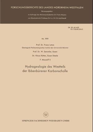 Hydrogeologie des Westteils der Ibbenburener Karbonscholle af W. Semmler, Franz Lotze, Klaus Kotter