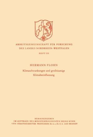 Klimaschwankungen und groraumige Klimabeeinflussung af Hermann Flohn