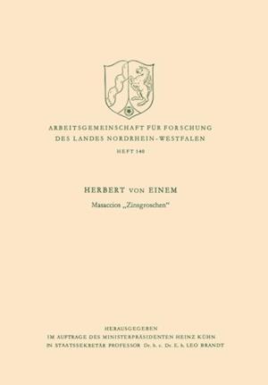 Masaccios Zinsgroschen' af Herbert ˜vonœ Einem