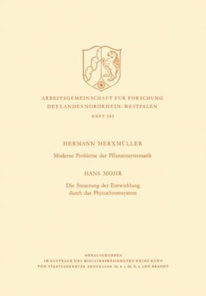 Moderne Probleme der Pflanzensystematik af Hermann Merxmuller