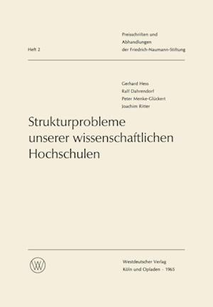 Strukturprobleme unserer wissenschaftlichen Hochschulen af Gerhard Hess