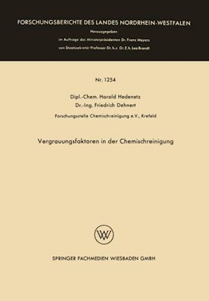 Vergrauungsfaktoren in der Chemischreinigung af Harald Hedenetz