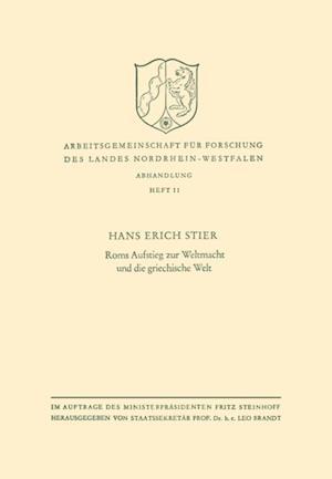 Roms Aufstieg zur Weltmacht und die griechische Welt af Hans Erich Stier