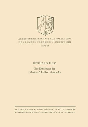Zur Entstehung der Maximen' La Rochefoucaulds af Gerhard Hess