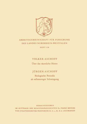 Bog, paperback Uber Das Raumliche Horen / Biologische Periodik ALS Selbsterregte Schwingung af Volker Aschoff