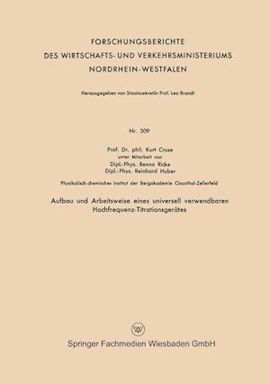 Aufbau Und Arbeitsweise Eines Universell Verwendbaren Hochfrequenz-Titrationsgerates
