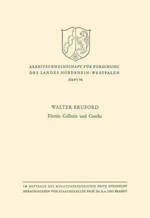 Furstin Gallitzin und Goethe af Walter Horace Bruford