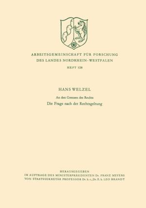 den Grenzen des Rechts af Hans Welzel