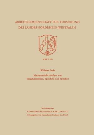 Mathematische Analyse von Sprachelementen, Sprachstil und Sprachen af Wilhelm Fucks