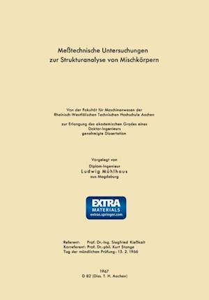 Metechnische Untersuchungen zur Strukturanalyse von Mischkorpern af Ludwig Muhlhaus