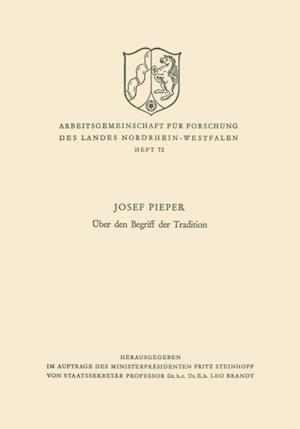 Uber den Begriff der Tradition af Josef Pieper
