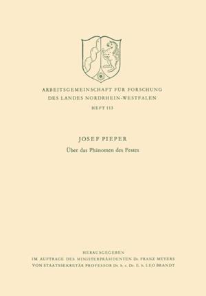 Uber das Phanomen des Festes af Josef Pieper