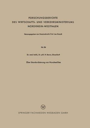 Uber Standardisierung von Wundtextilien af Heinz Baron