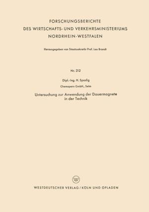 Untersuchung zur Anwendung der Dauermagnete in der Technik af Heinrich Spodig