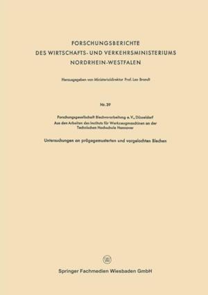 Forschungsberichte des Wirtschafts- und Verkehrsministeriums Nordrhein-Westfalen af Leo Brandt