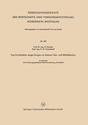 Das Durchziehen enger Kragen an ebenen Fein- und Mittelblechen af Otto Kienzle
