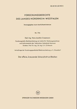 Der offene, kreuzende Scherschnitt an Blechen af Hans-Joachim Crasemann