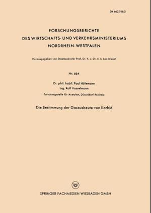 Die Bestimmung der Gasausbeute von Karbid af Paul Holemann