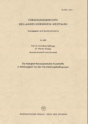 Die Festigkeit thermoplastischer Kunststoffe in Abhangigkeit von den Verarbeitungsbedingungen af Karl-Heinz Hellwege