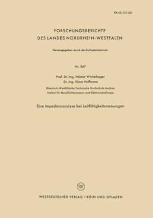 Eine Impedanzanalyse bei Leitfahigkeitsmessungen af Helmut Winterhager
