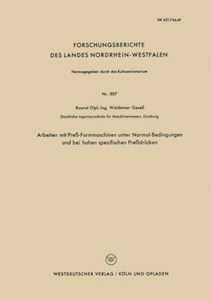 Arbeiten mit Pre-Formmaschinen unter Normal-Bedingungen und bei hohen spezifischen Predrucken af Waldemar Gesell