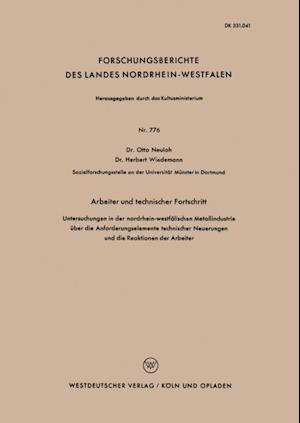Arbeiter und technischer Fortschritt af Otto Neuloh