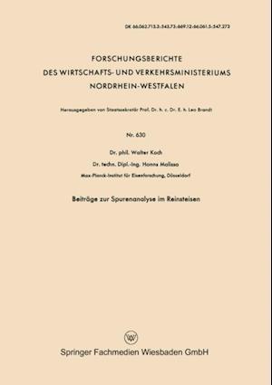 Beitrage zur Spurenanalyse im Reinsteisen af Walter Koch