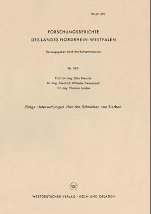 Einige Untersuchungen uber das Schneiden von Blechen af Otto Kienzle