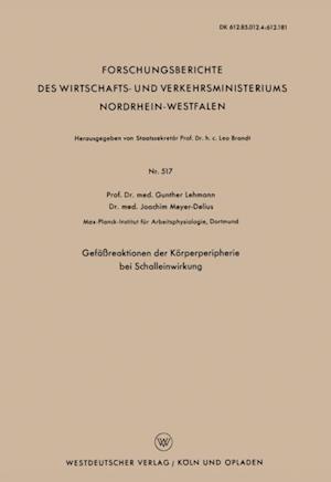 Gefareaktionen der Korperperipherie bei Schalleinwirkung af Gunther Lehmann
