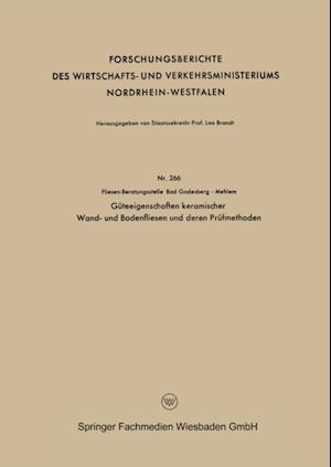 Guteeigenschaften keramischer Wand- und Bodenfliesen und deren Prufmethoden af Fliesen-Beratungsstelle Bad Godesberg - Mehlem