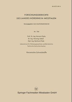 Keramische Schneidstoffe af Herwart Opitz
