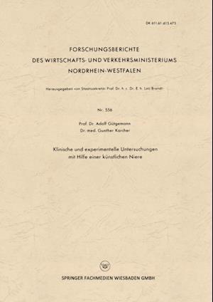 Klinische und experimentelle Untersuchungen mit Hilfe einer kunstlichen Niere af Adolf Gutgemann