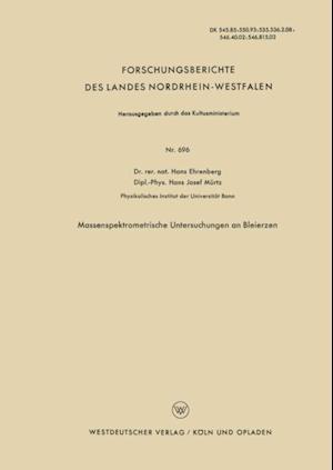 Massenspektrometrische Untersuchungen an Bleierzen af Hans Ehrenberg