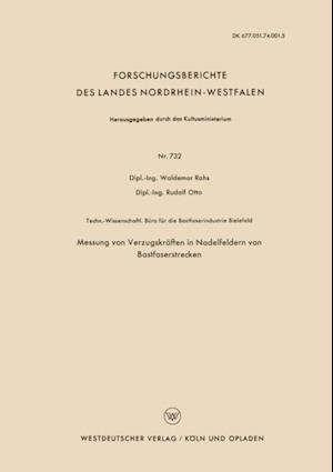 Messung von Verzugskraften in Nadelfeldern von Bastfaserstrecken af Waldemar Rohs
