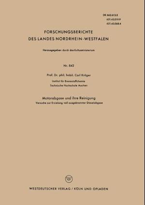 Motorabgase und ihre Reinigung af Carl Kroger