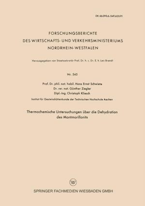 Thermochemische Untersuchungen uber die Dehydration des Montmorillonits af Hans-Ernst Schwiete