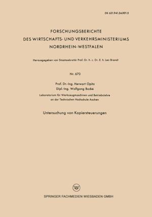 Untersuchung von Kopiersteuerungen af Herwart Opitz