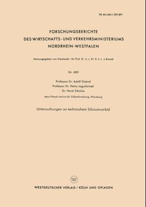 Untersuchungen an technischem Siliziumcarbid af Adolf Dietzel