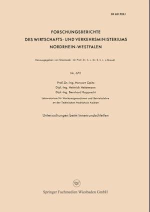 Untersuchungen beim Innenrundschleifen af Herwart Opitz