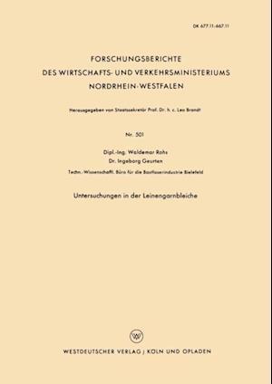 Untersuchungen in der Leinengarnbleiche af Waldemar Rohs