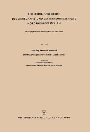 Untersuchungen industrieller Gasbrenner af Bernhard Naendorf