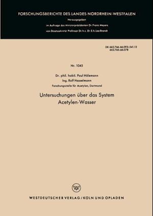 Untersuchungen uber das System Acetylen-Wasser