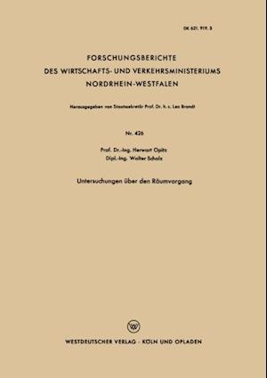 Untersuchungen uber den Raumvorgang af Herwart Opitz